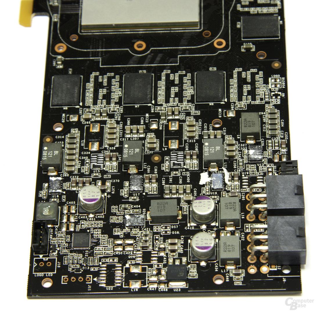 GeForce GTX 260 Spannungswandler