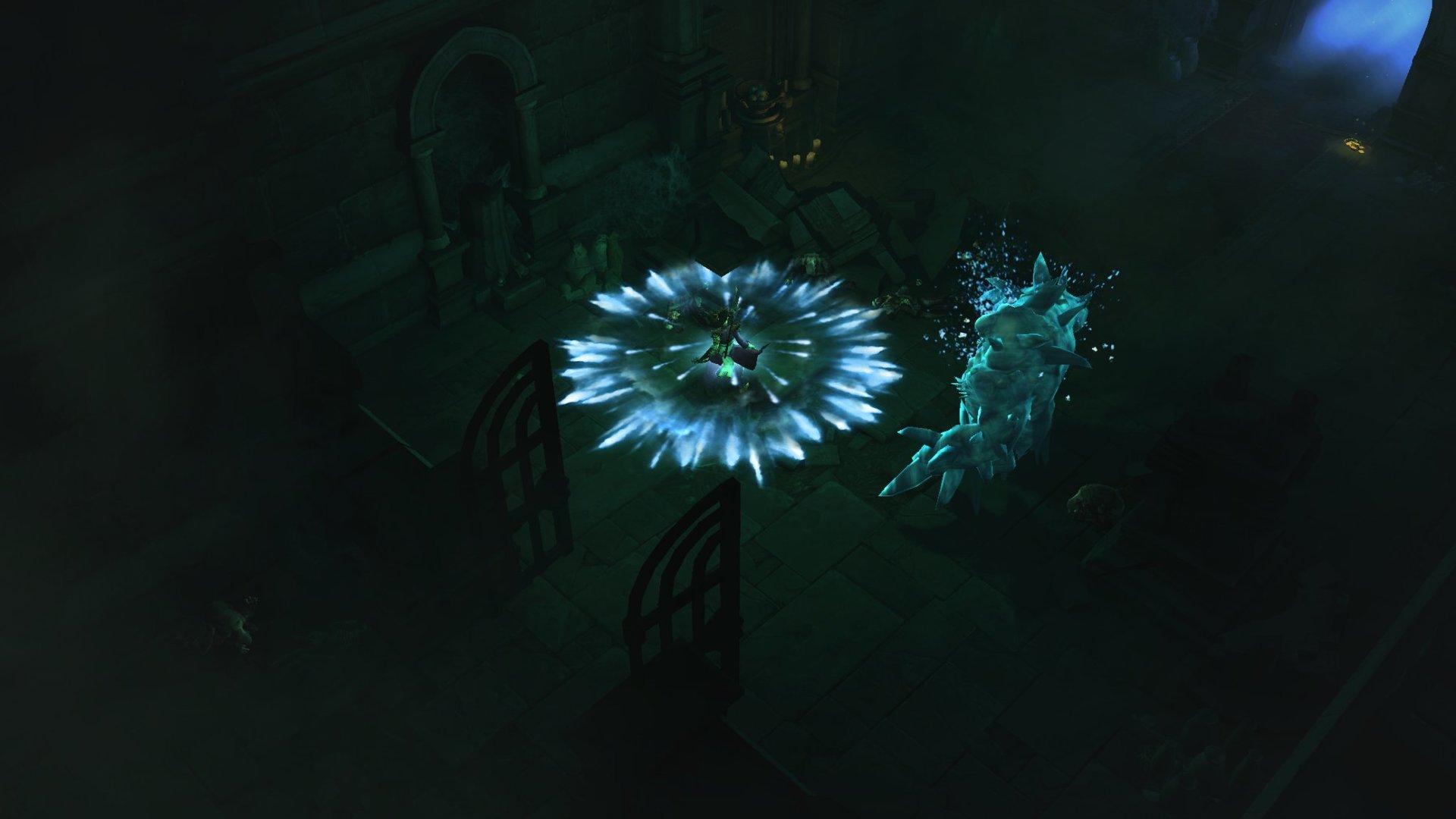 Wizard Casting Frost Nova