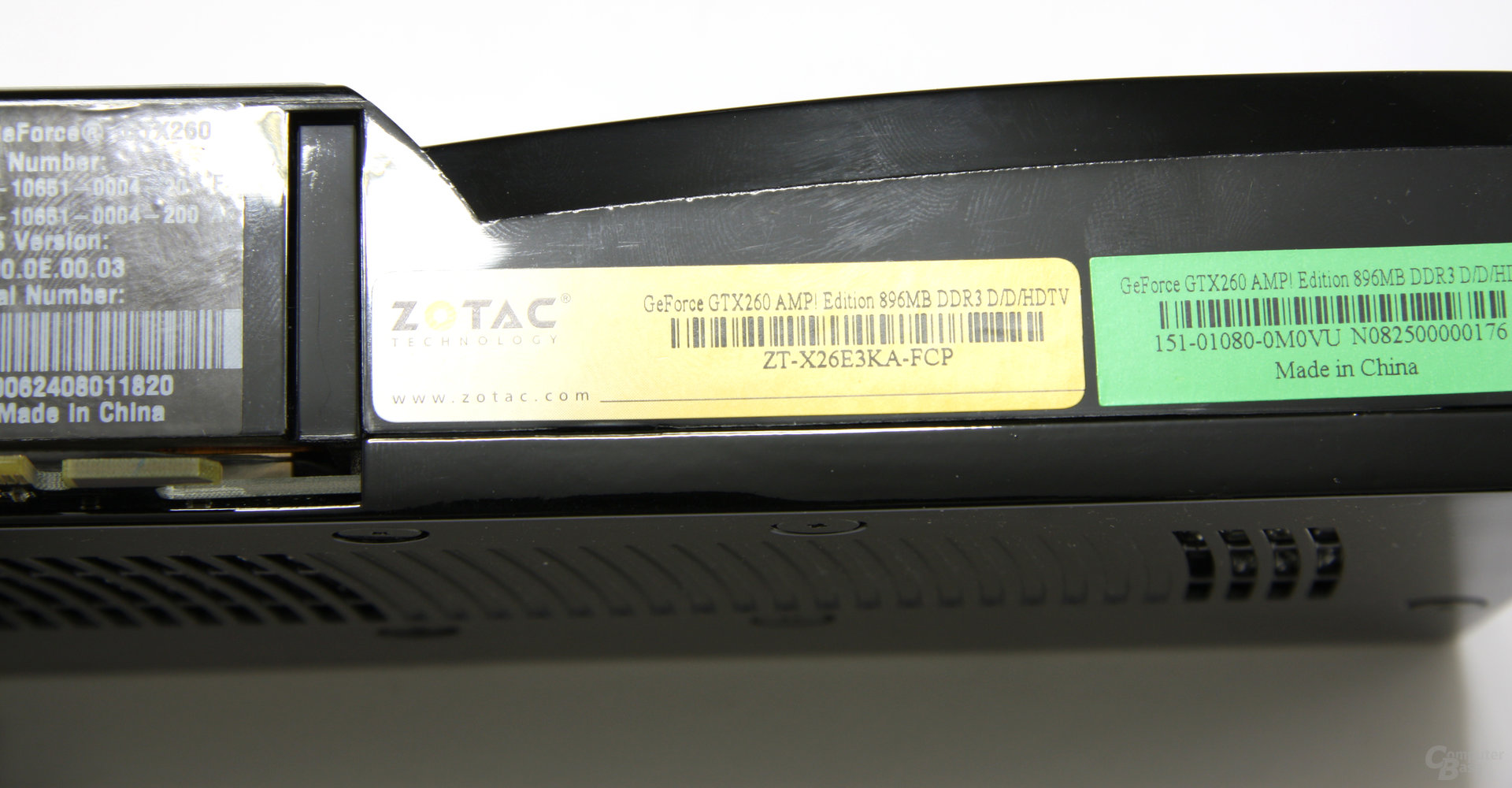 GeForce GTX 260 AMP! Aufkleber