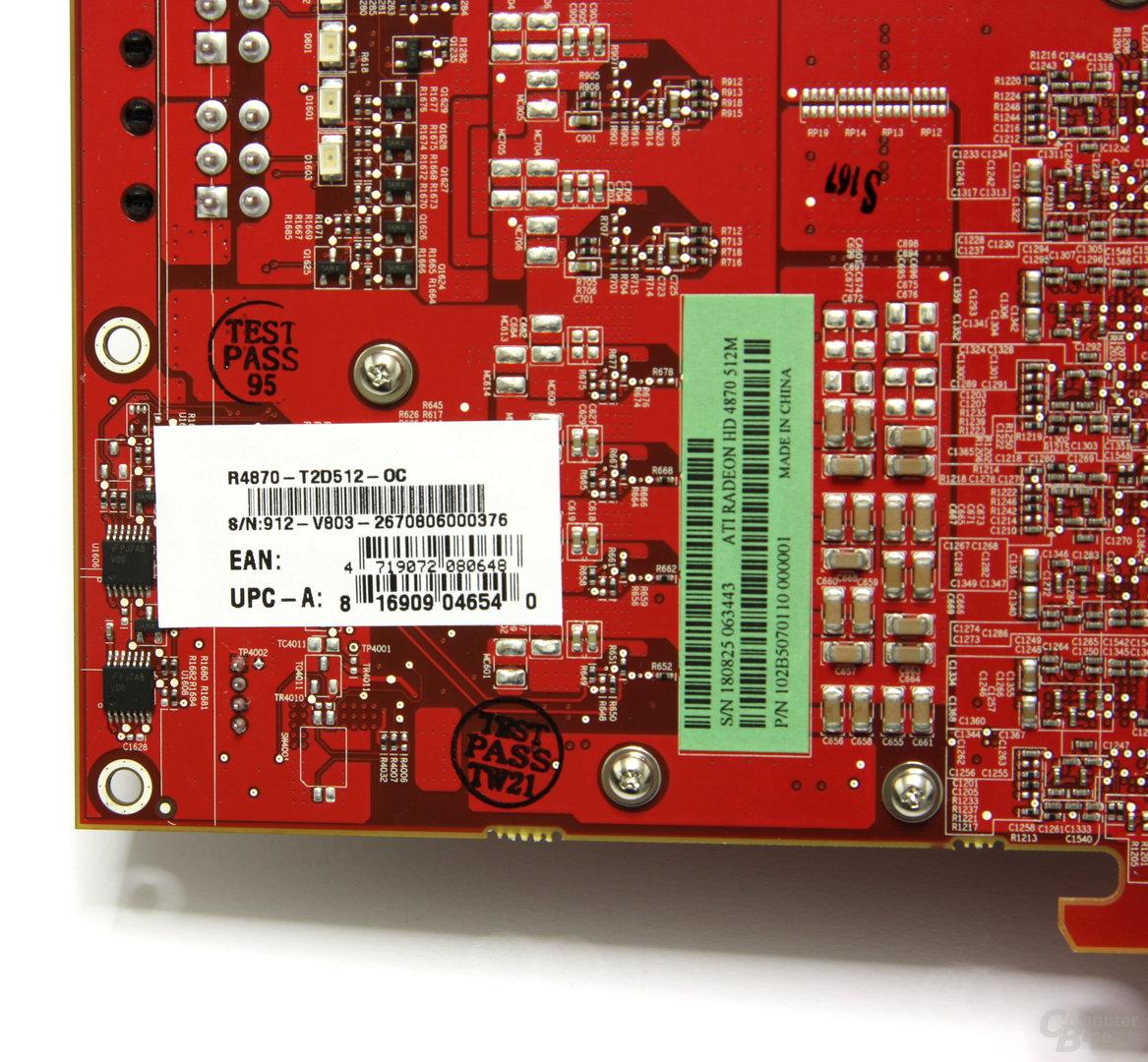 Radeon HD 4870 OC Aufkleber
