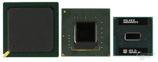 Intel ICH7 (Northbridge), 945GC (Southbridge) und Atom 230 (CPU)