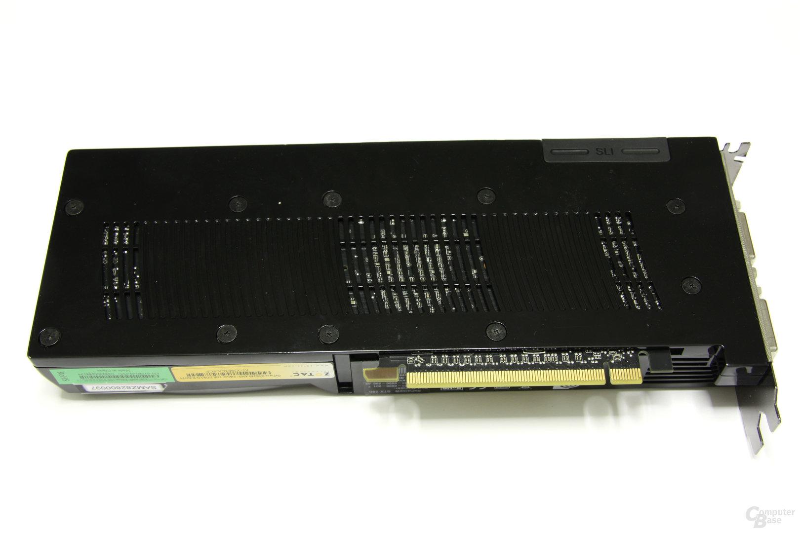 GeForce GTX 280 AMP! Rückseite