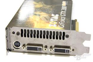 GeForce GTX 280 AMP! Slotblech