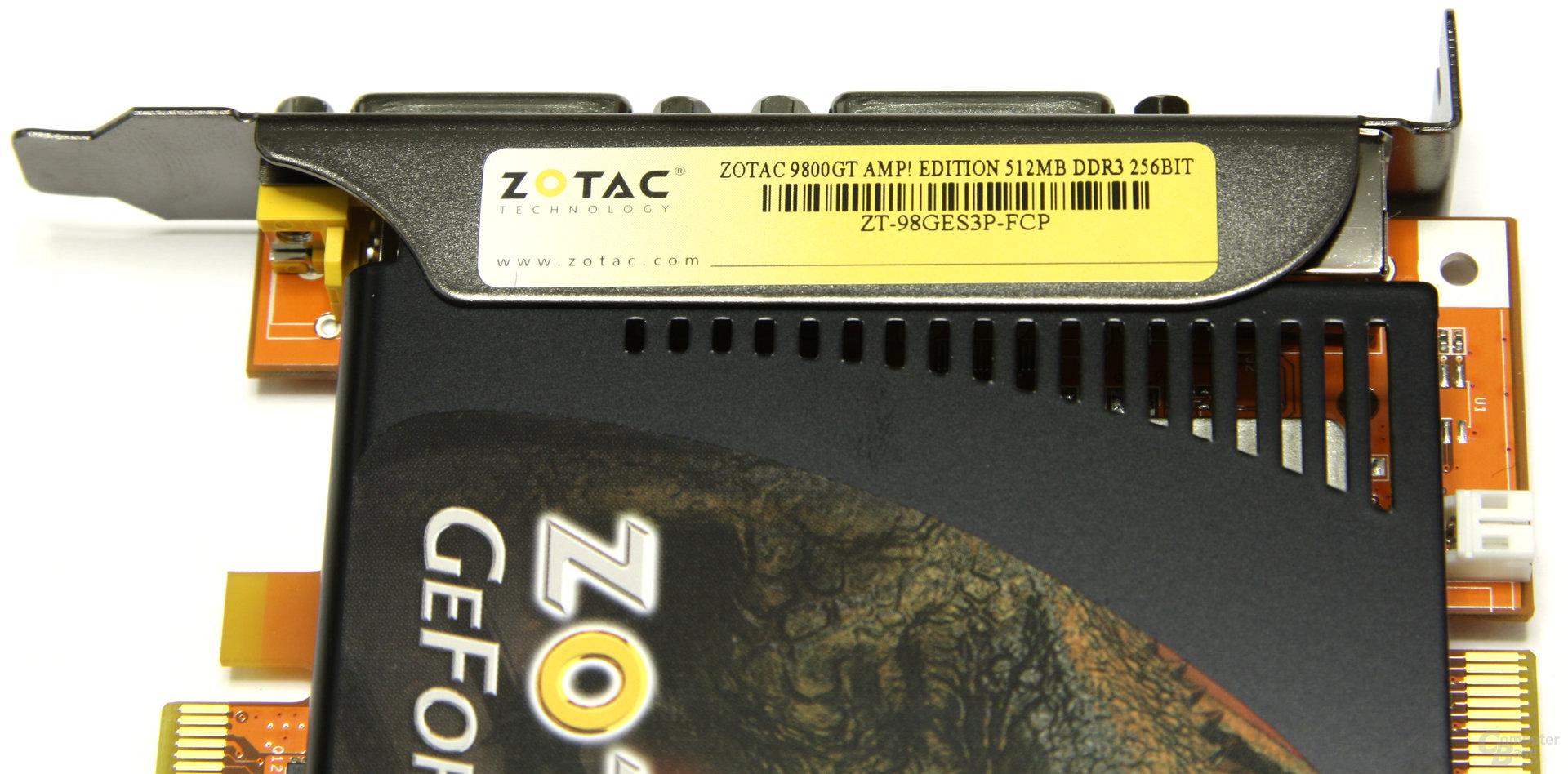 GeForce 9800 GT AMP! Aufkleber