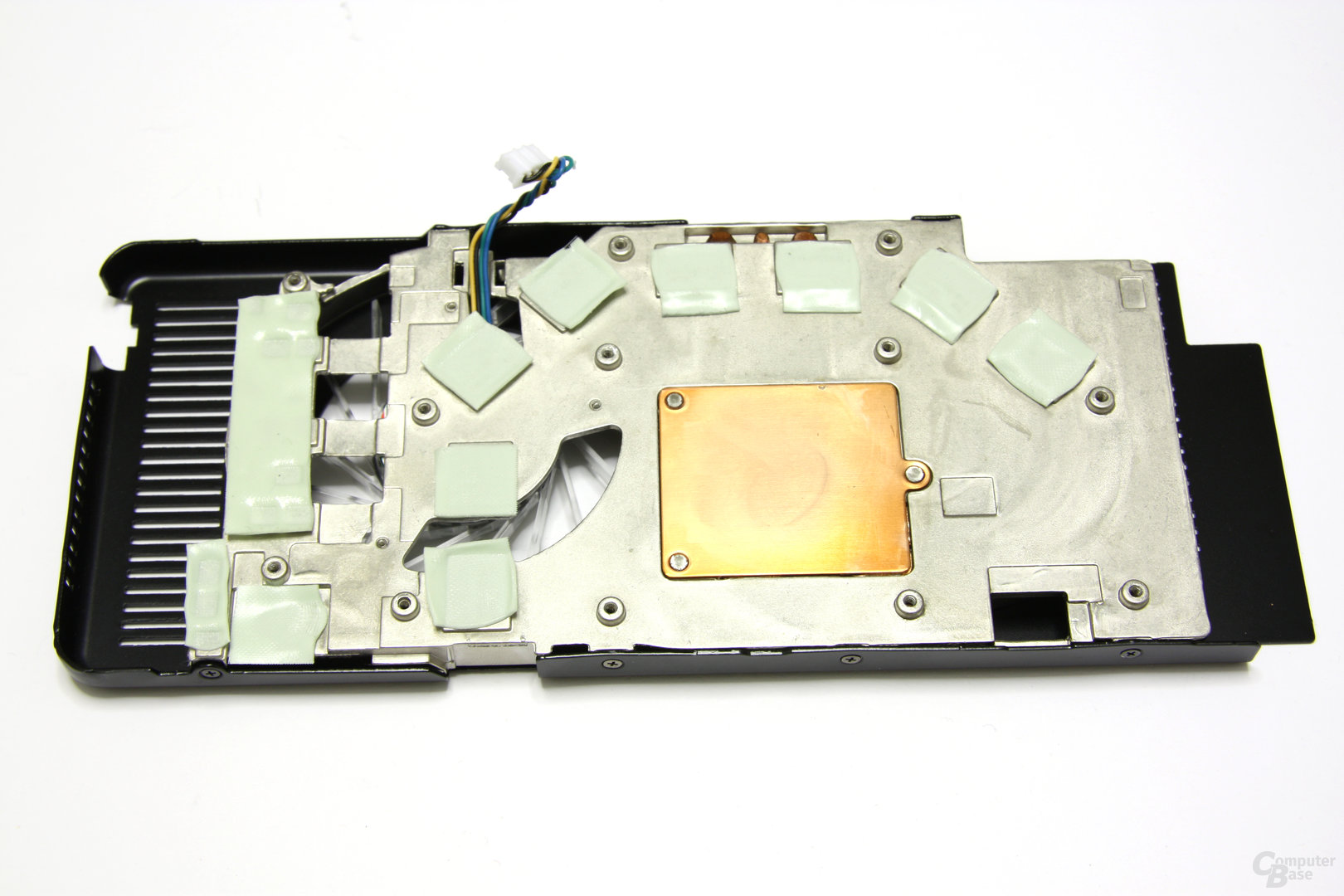 GeForce 9800 GT AMP! Kühlerrückseite