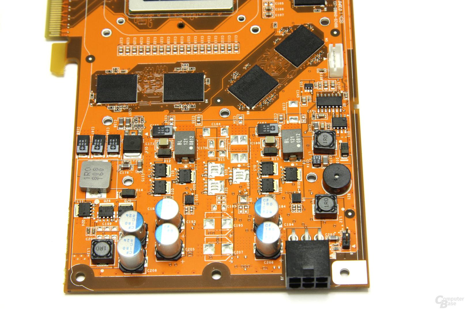 GeForce 9800 GT AMP! Spannungswandler