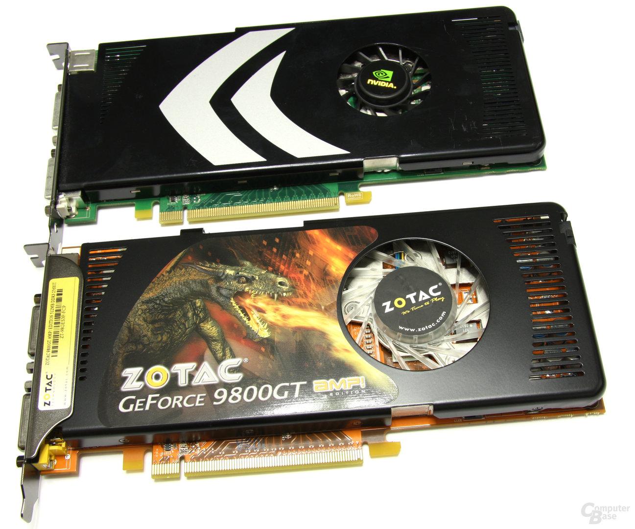GeForce 9800 GT und GeForce 8800 GT