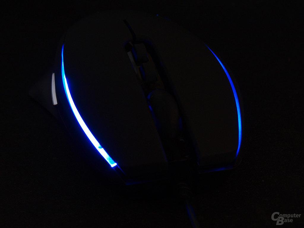 Blaue Lichtleisten als besonderes Optik-Feature