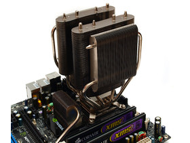Cooler Master V8 aufgebaut