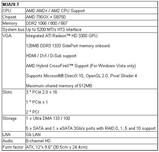 Asus M3A78-T