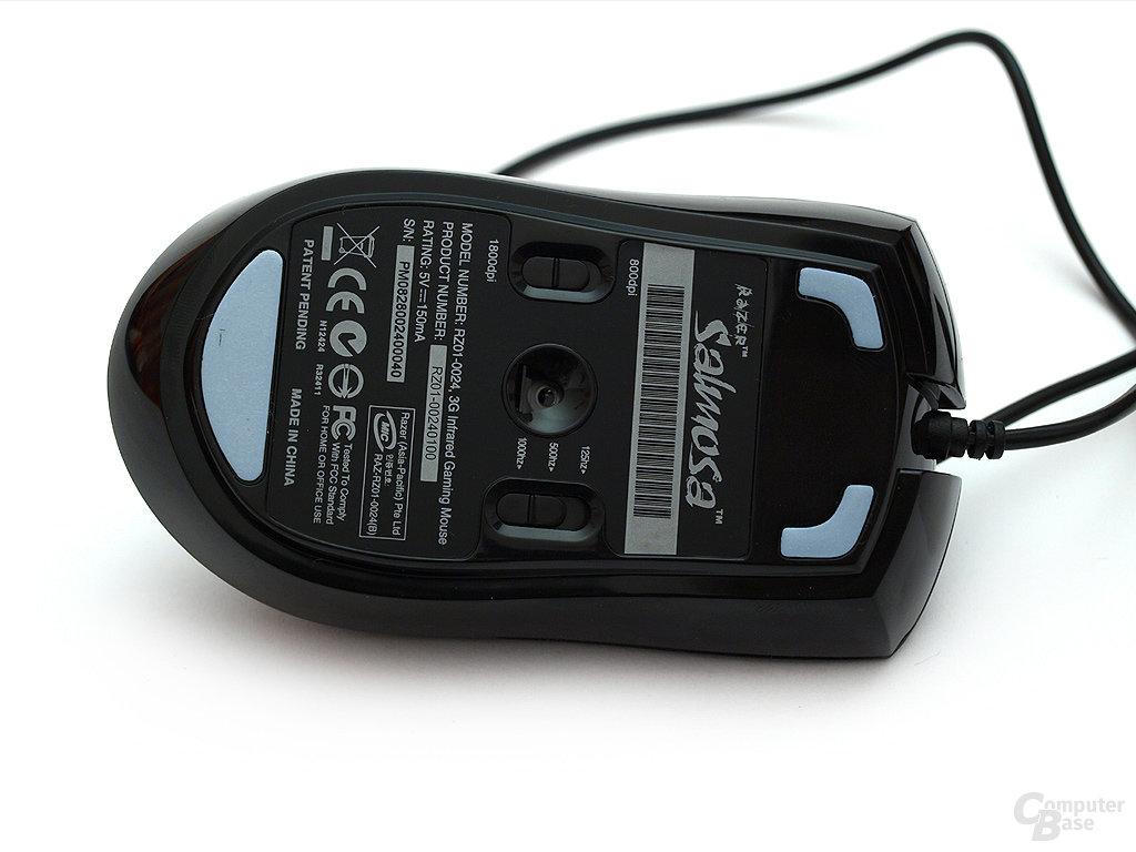 Schiebregler für Abtast- und Übertragungsrate befinden sich unter der Maus