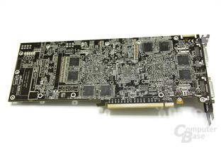 Radeon HD 4870 X2 Rückseite ohne Kühler