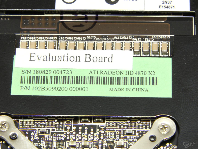 Radeon HD 4870 X2 Aufschrift