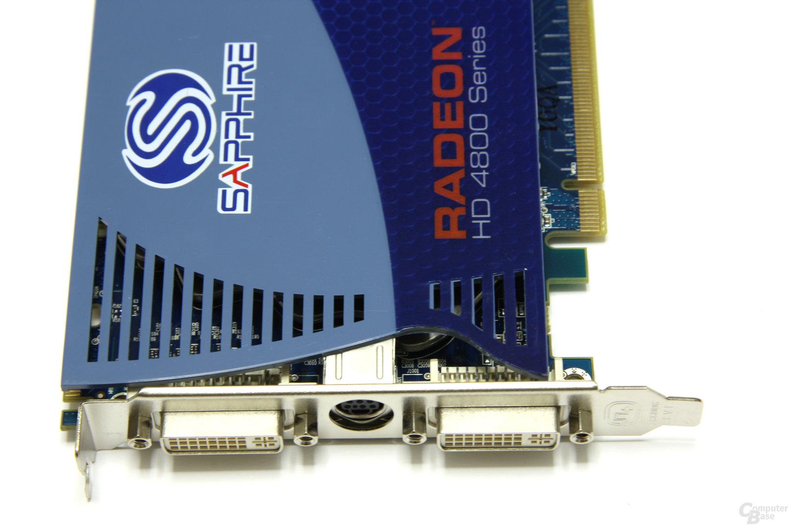 Radeon HD 4850 1GB Anschlüsse
