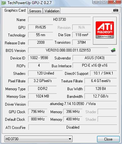 Asus Radeon HD 3730