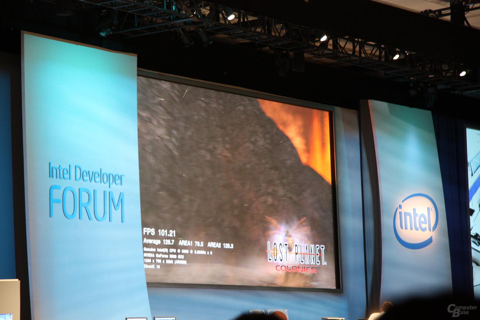 Intel IDF: Lost Planet auf Nehalem@3,2 GHz