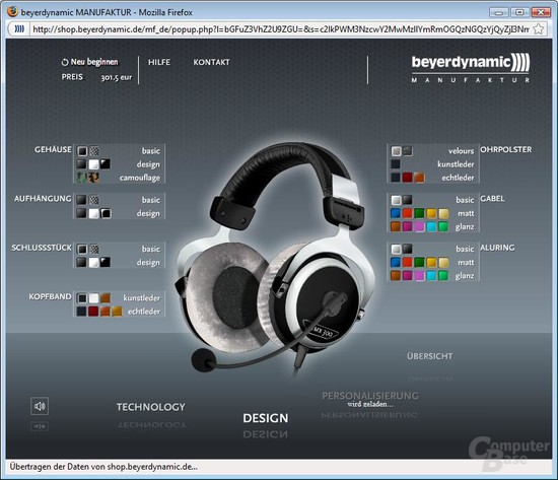 Headset-Konfiguration