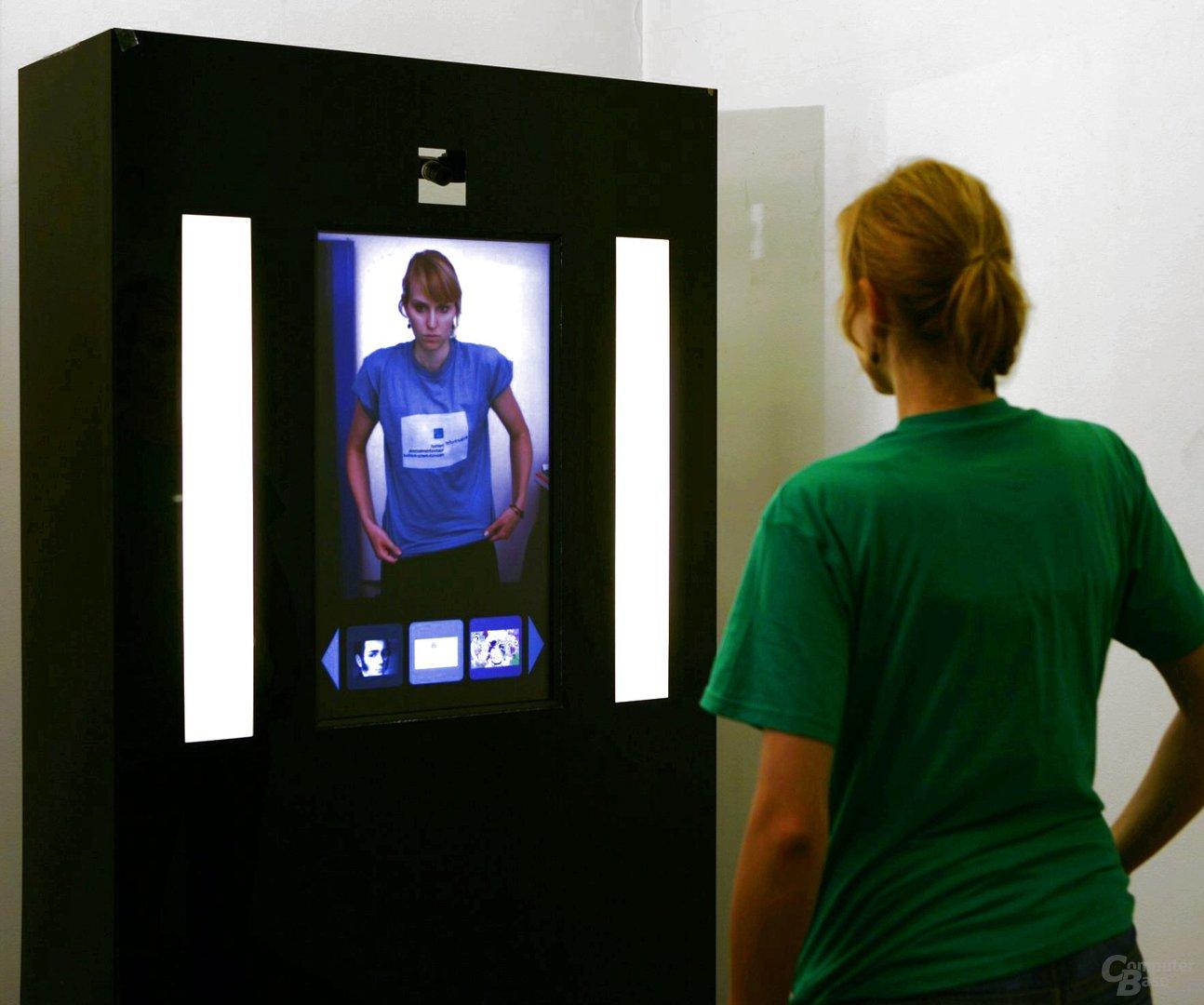 Virtueller Spiegel des Fraunhofer Instituts