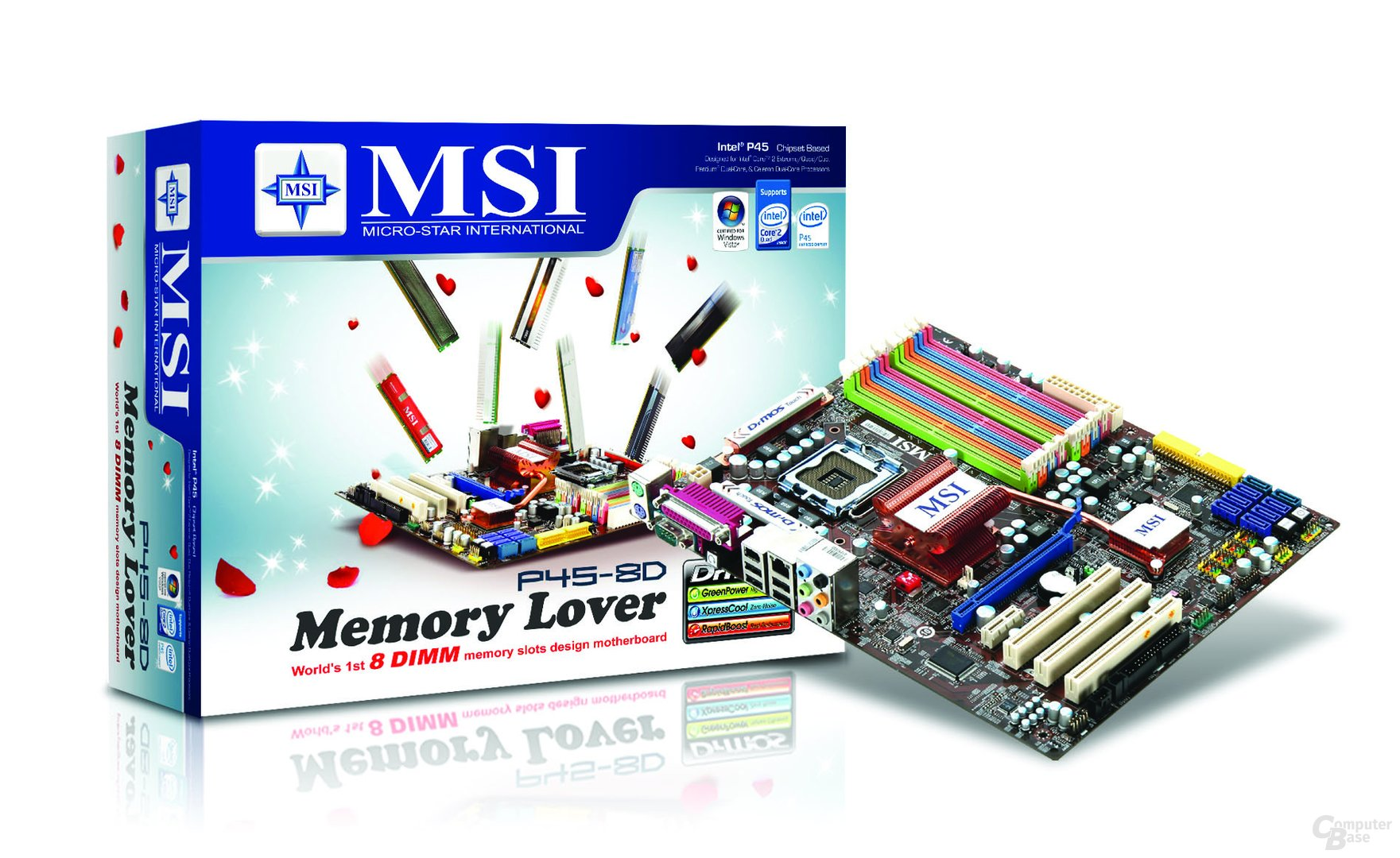 """SI """"Memory Lover""""-Mainboard P45-8D"""