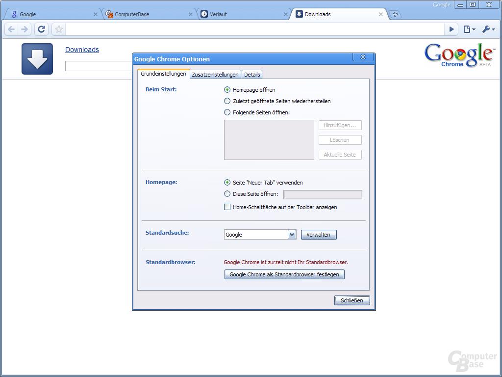 Google Chrome – Grundeinstellungen