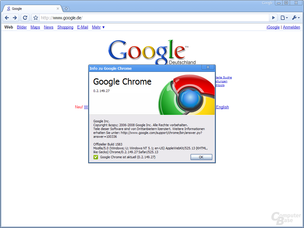 Google Chrome – Info