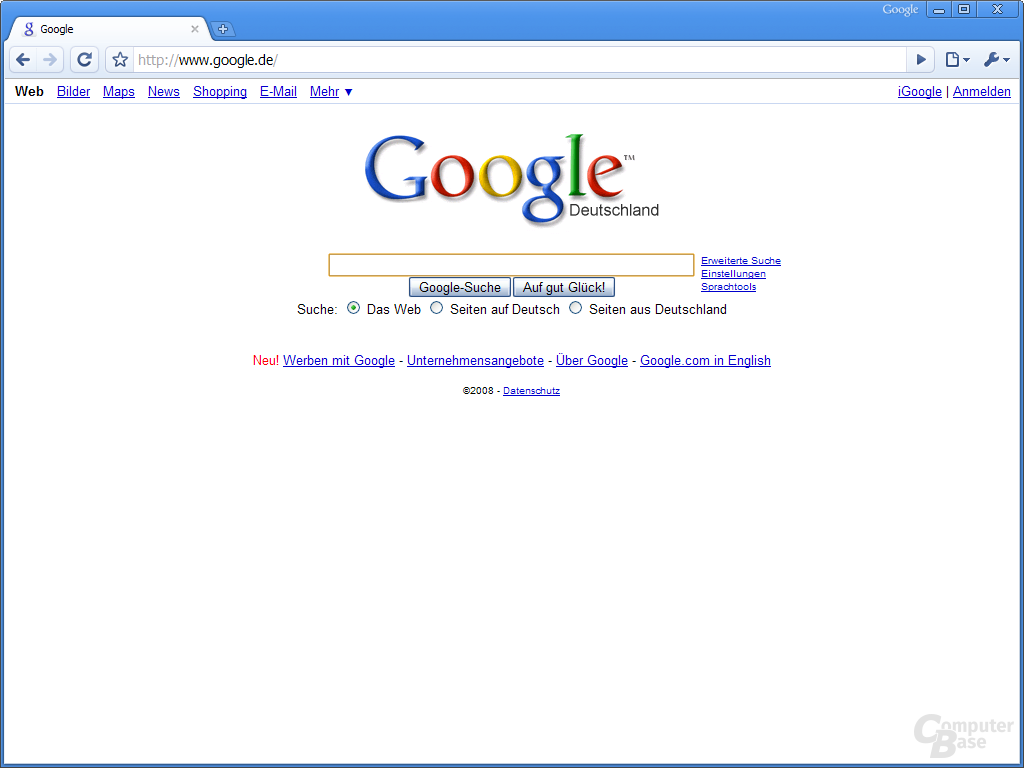 Google Chrome – Google.de