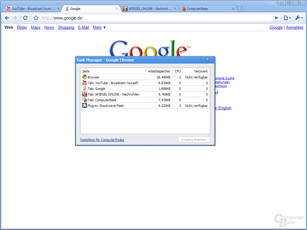 Google Chrome – Task-Manager