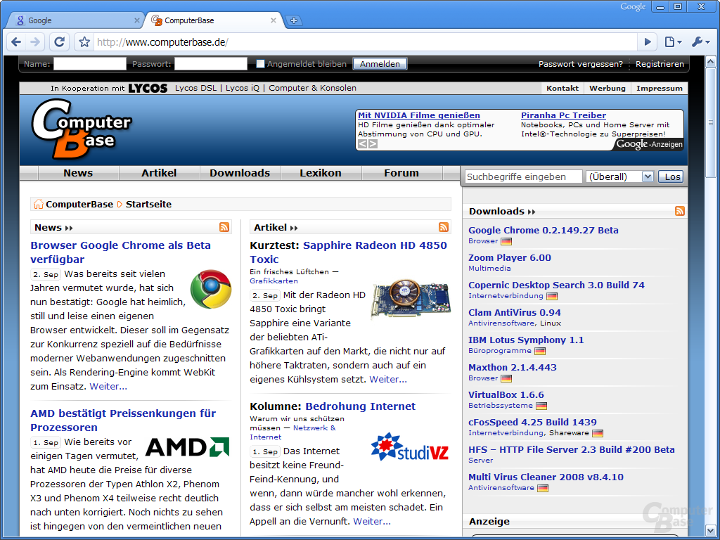 Google Chrome – ComputerBase