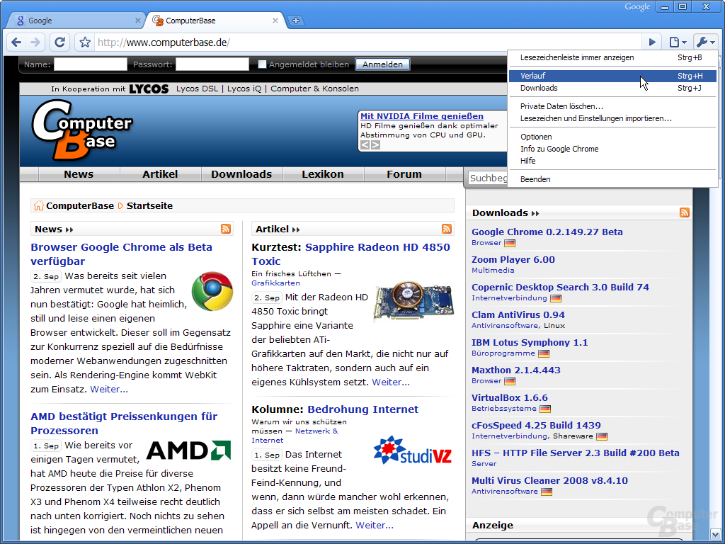 Google Chrome – Google Chrome anpassen