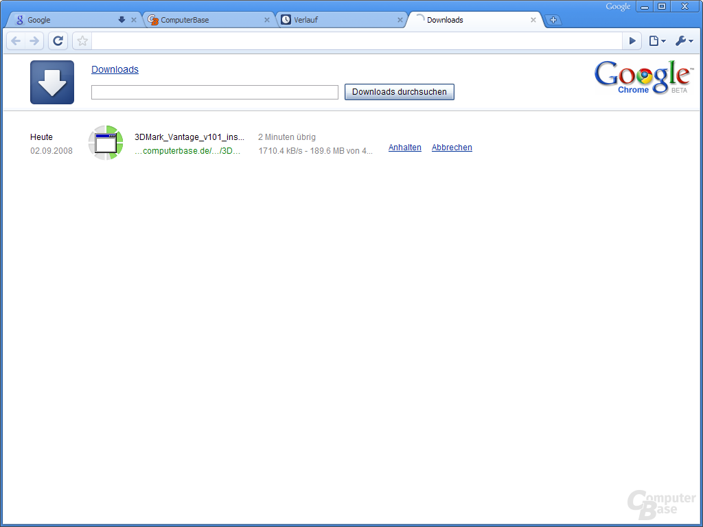 Google Chrome – Downloads