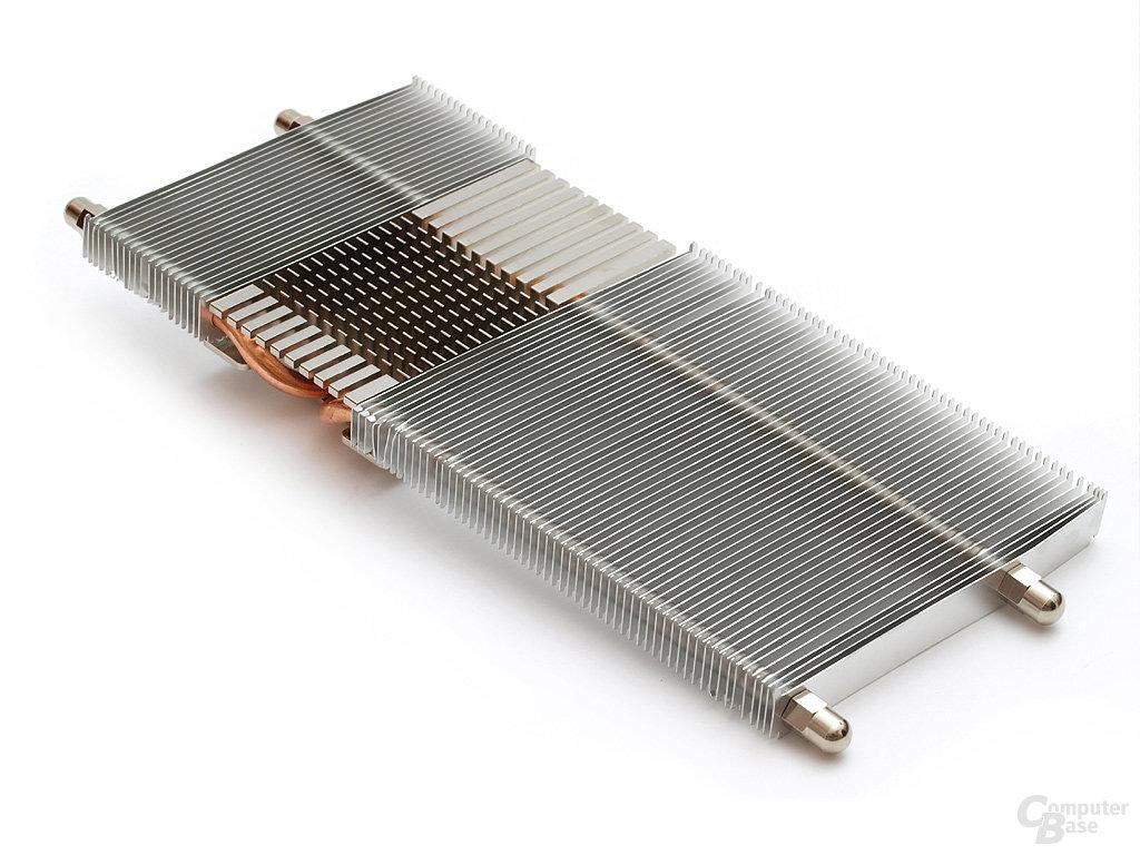 Langer Lamellenkörper mit vergleichsweise dünnen Aluminiumfinnen