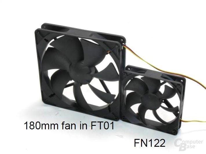 SilverStone FT01 (180 mm) vs. SilverStone FN122 (120 mm)