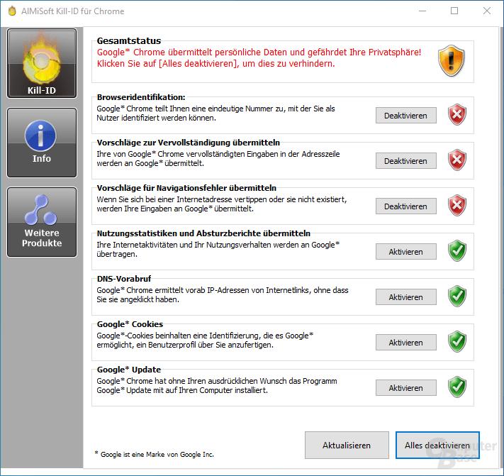 Kill-ID für Chrome – Überblick