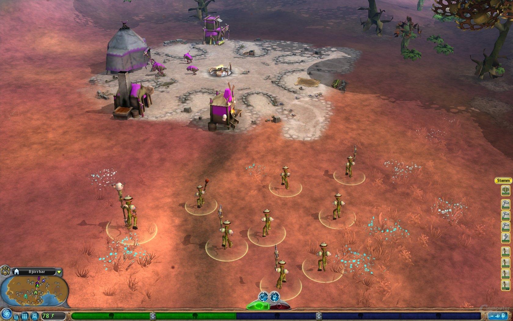 Angriff auf ein gegnerisches Dorf