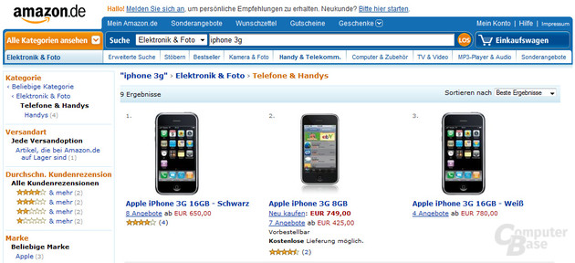 iPhone-Angebot bei Amazon