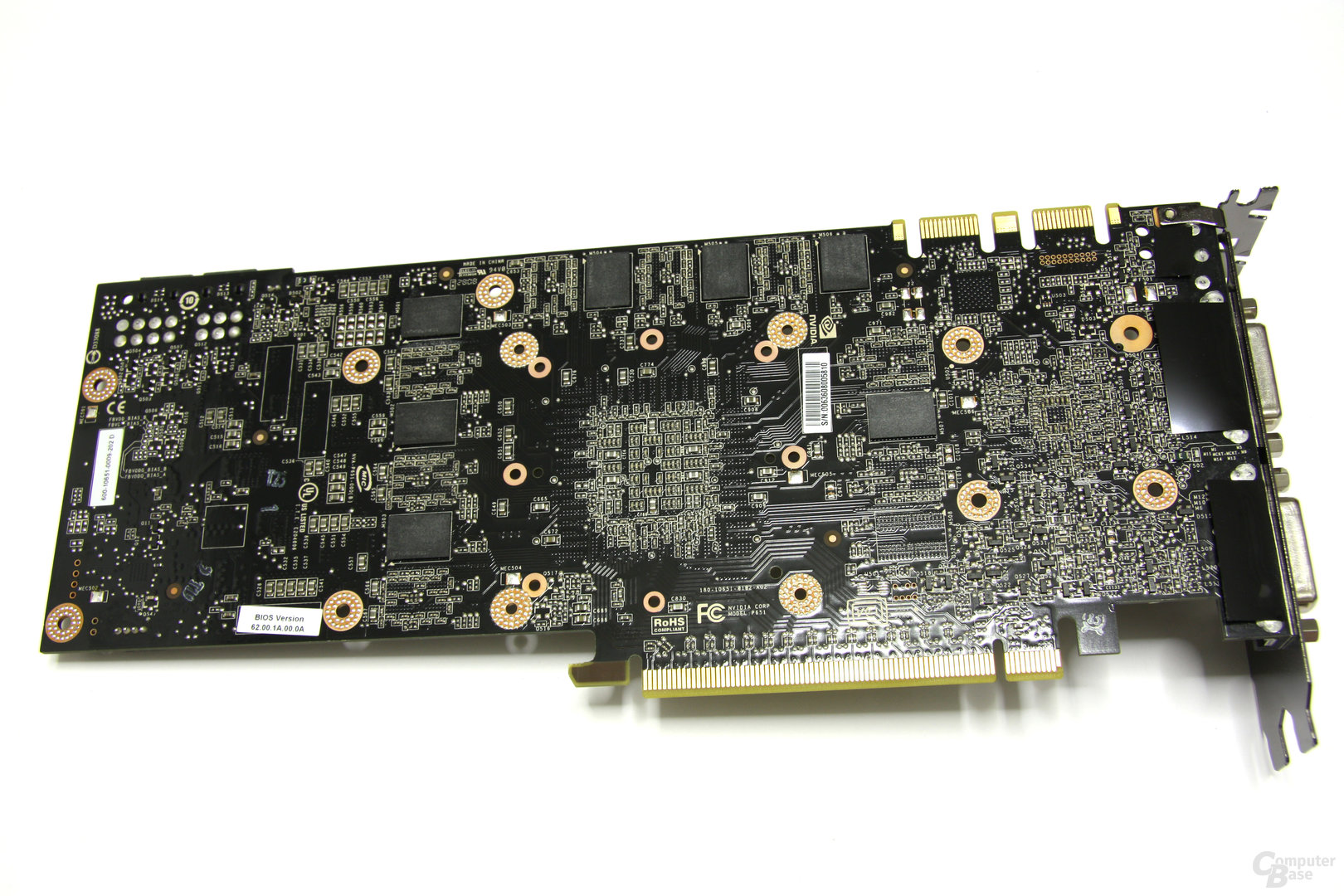 GeForce GTX 260² ohne Kühler Rückseite