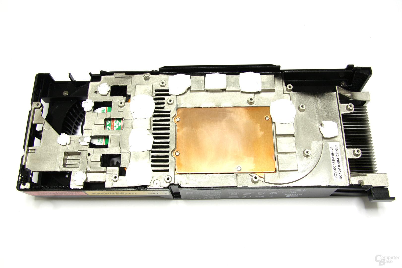 GeForce GTX 260² Kühlerrückseite