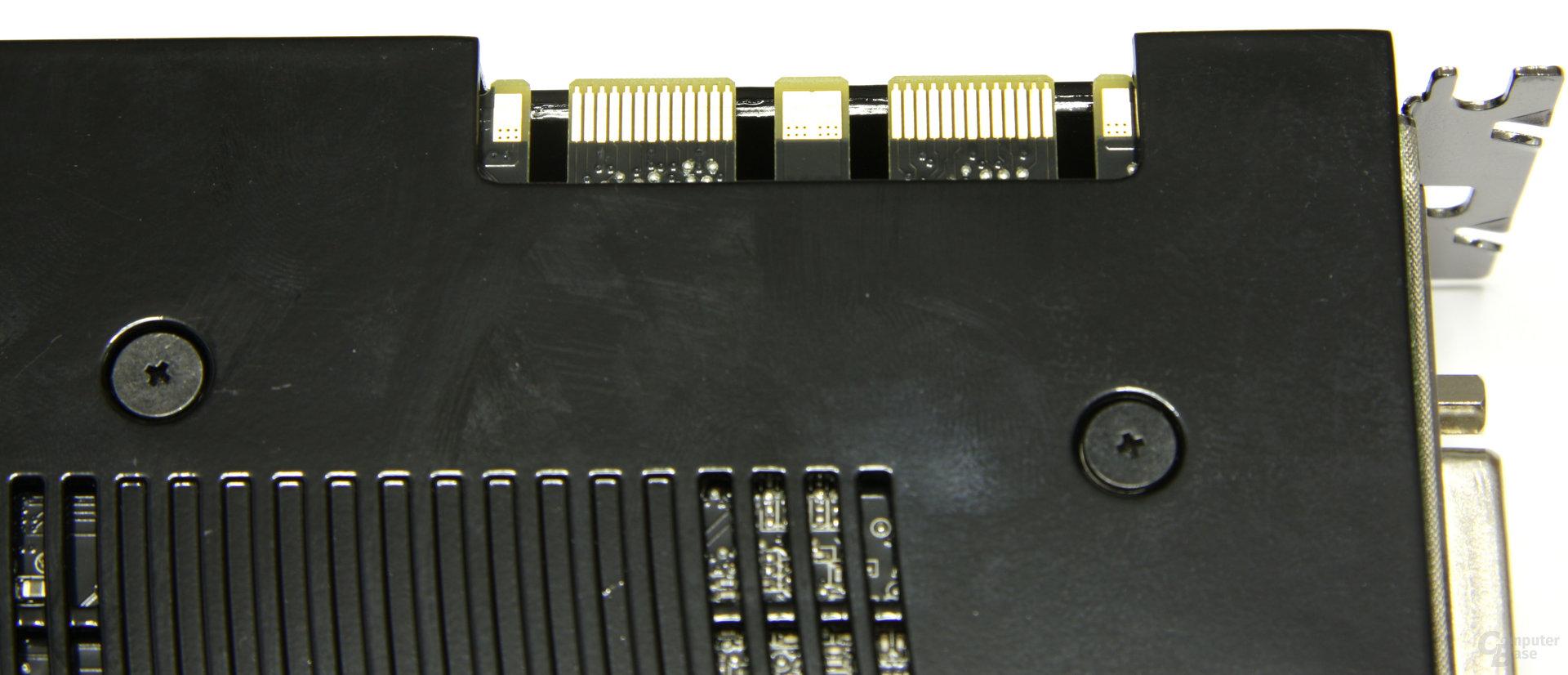 GeForce GTX 260² SLI-Anschluss