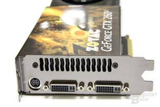 GeForce GTX 260² Slotblech