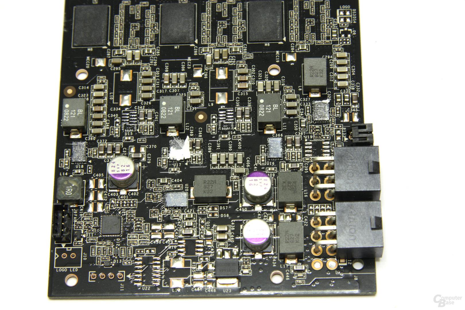 GeForce GTX 260² Spannungswandler