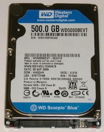 WD Scorpio Blue mit 500GB
