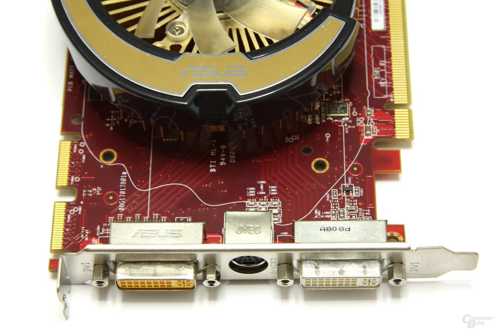 Radeon HD 4850 TOP Anschlüsse
