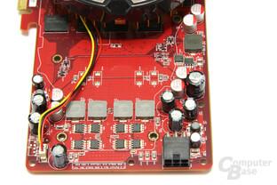 Radeon HD 4850 TOP Spannungswandler