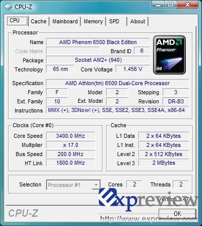 Athlon 6500 bei 3,4 GHz