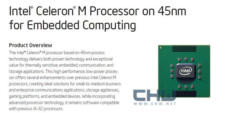 Celeron M in 45 nm