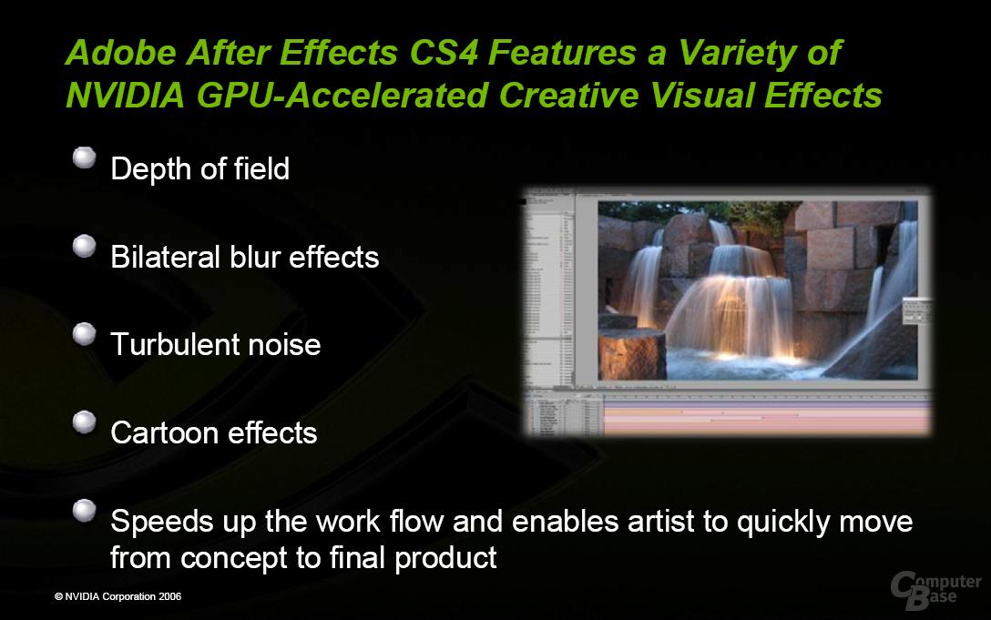 Adobe Creative Suit 4 GPU-Beschleunigung