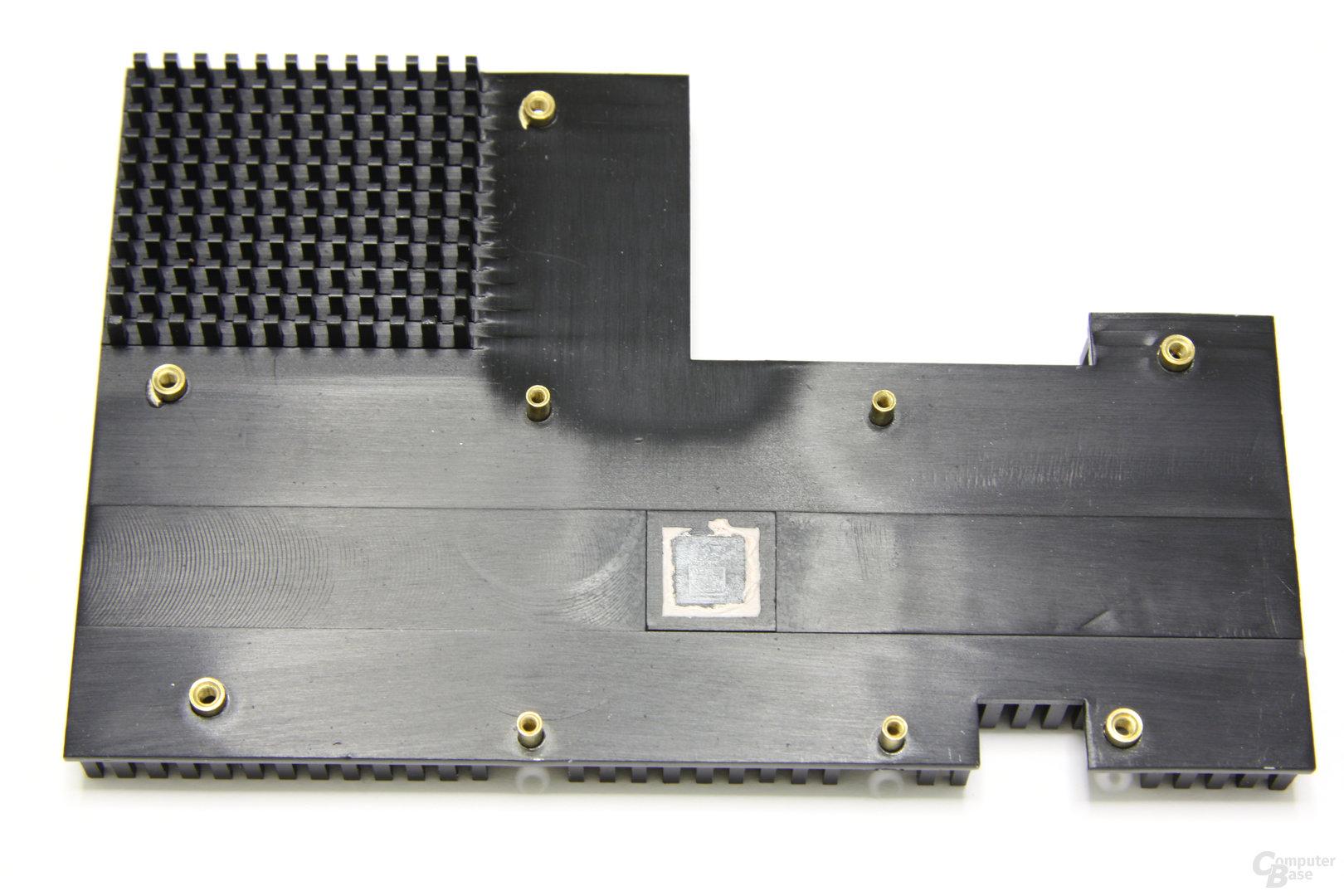 Radeon HD 4550 Kühler-Rückseite
