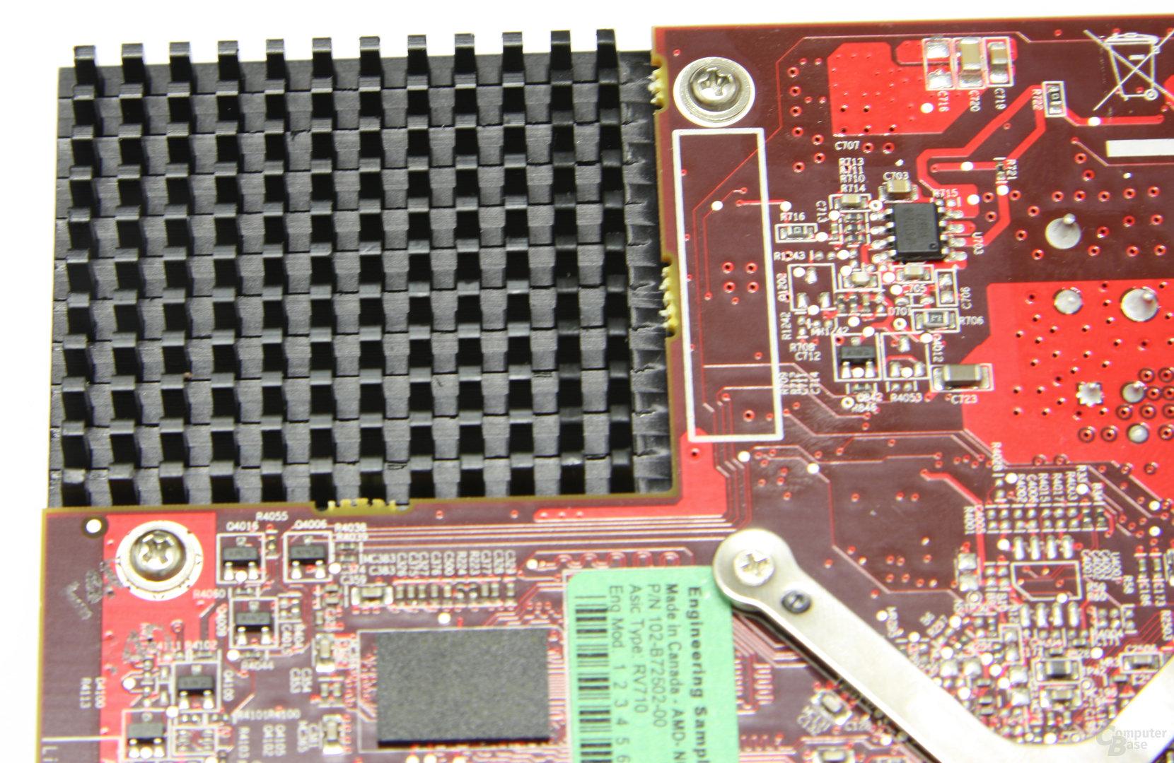 Radeon HD 4550 Lücke