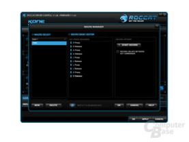 Roccat Kone Treibermenü – Makrokonfiguration