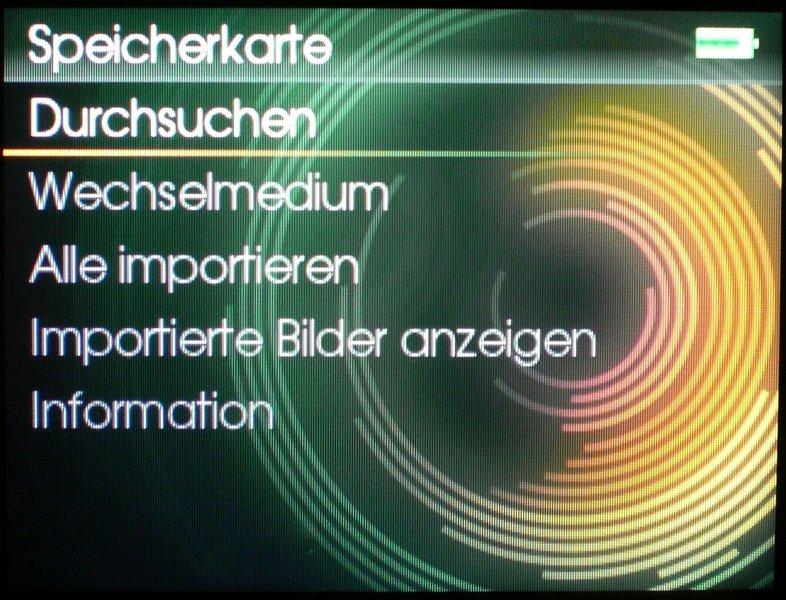 Screen Speicherkarte